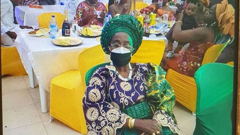 My 87year old mum, Prof Mrs Oyemade still staying fashionable.