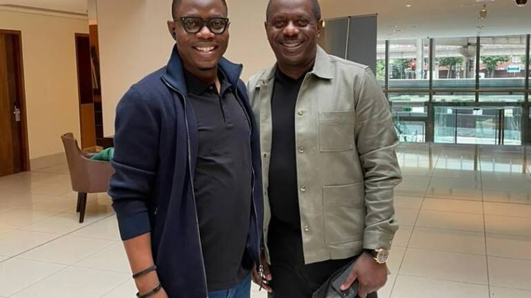 Photo Diary: With Olawale Ayilara this morning.