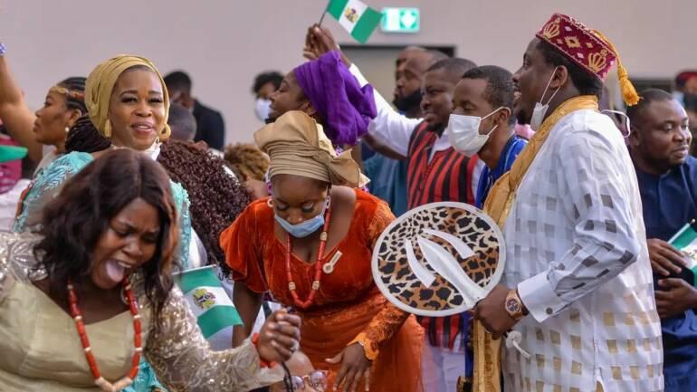 Very colourful celebration last Sunday @tcnabuja